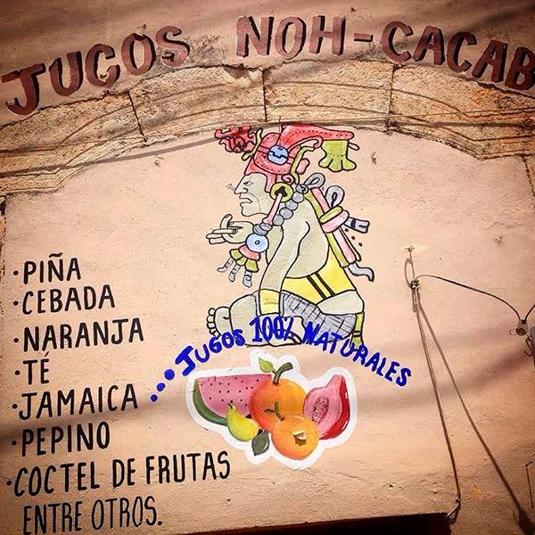 Jugos naturales en Santa Elena, Yucatán