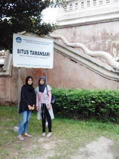 Plang situs bersejarah Taman Sari