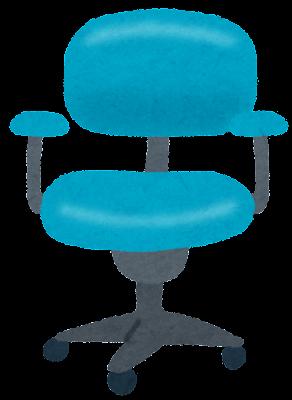 突板ならコロコロ突きの椅子を使っても傷が付かない