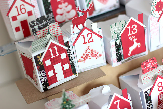 Advent Calendar by Elena Olinevich using BoBunny Merry & Bright Collection