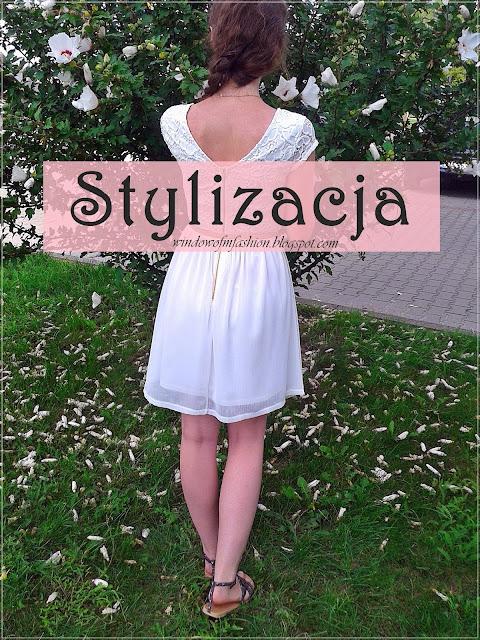 Stylizacja: biała sukienka