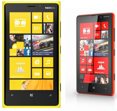 Nokia Lumia 820 and Nokia Lumia 920
