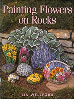 Hand Painted Flowers on Rocks