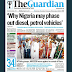 NAIJA NEWSPAPERS: TODAY'S THE GUARDIAN NEWSPAPER HEADLINES [28 AUGUST, 2017].