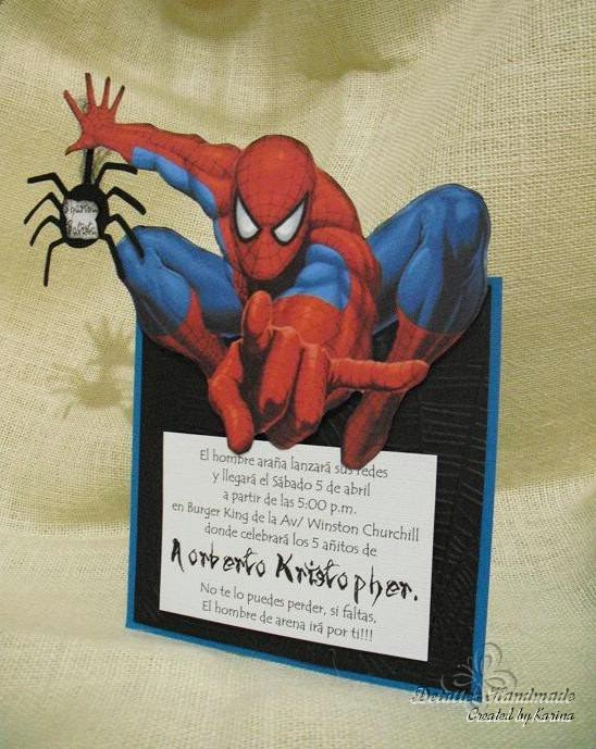 Tarjetas De Cumpleaños Hombre Araña