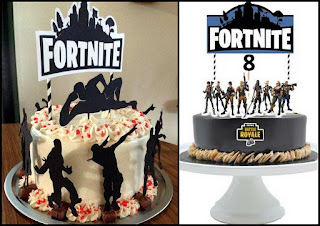 Fortnite Free Printable Cake Toppers.