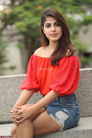 Rhea Chakraborty in Red Crop Top and Denim Shorts Spicy Pics ~  Exclusive 285.JPG