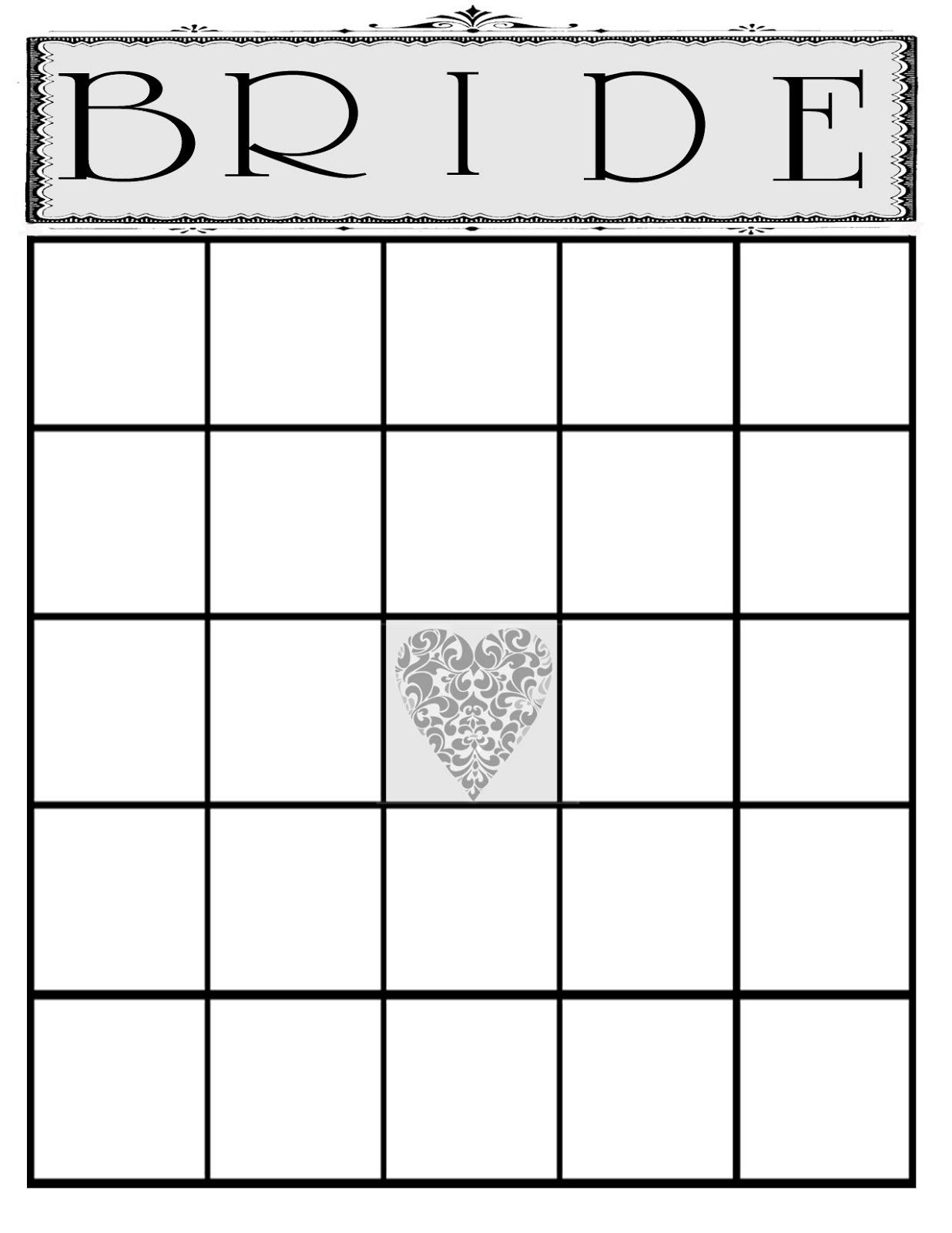 Blank Bingo Card Template 5x5
