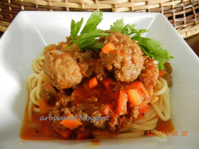 My Wonderful World Of Food And Travel Spaghetti Bolognese Versi Pedas