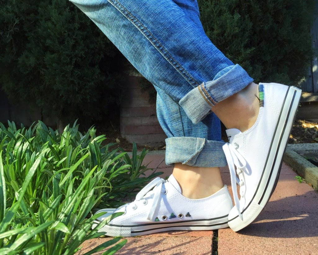 zapatillas, customizar, costura, bordar