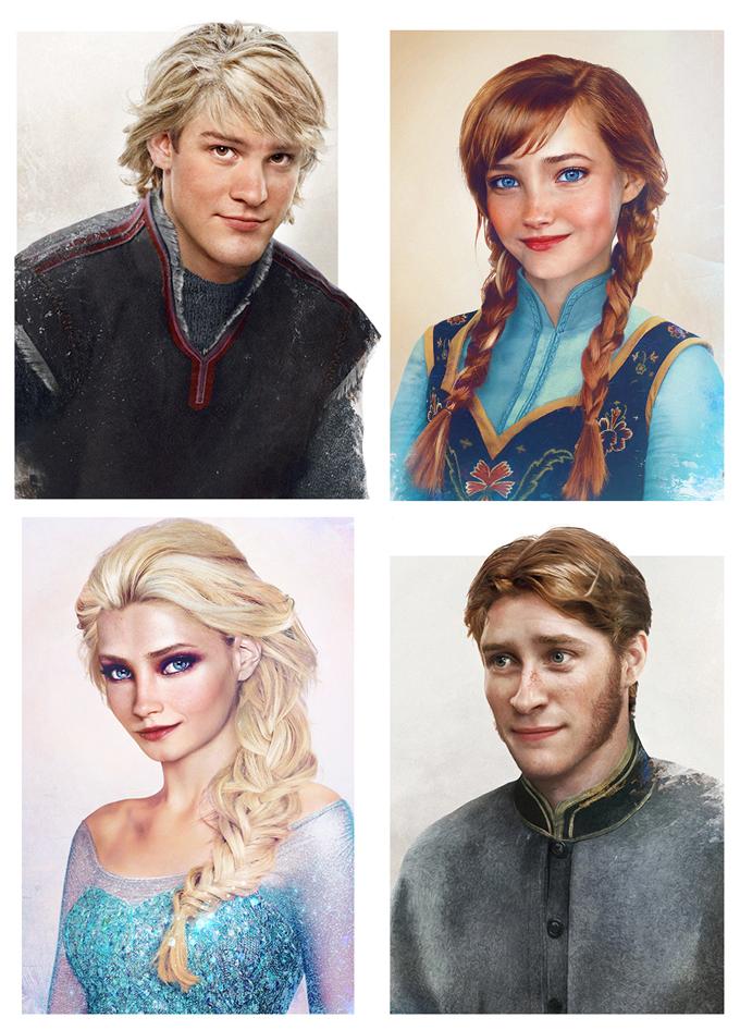 real life disney character frozen персонажи Дисней в реальной жизни Холодное сердце