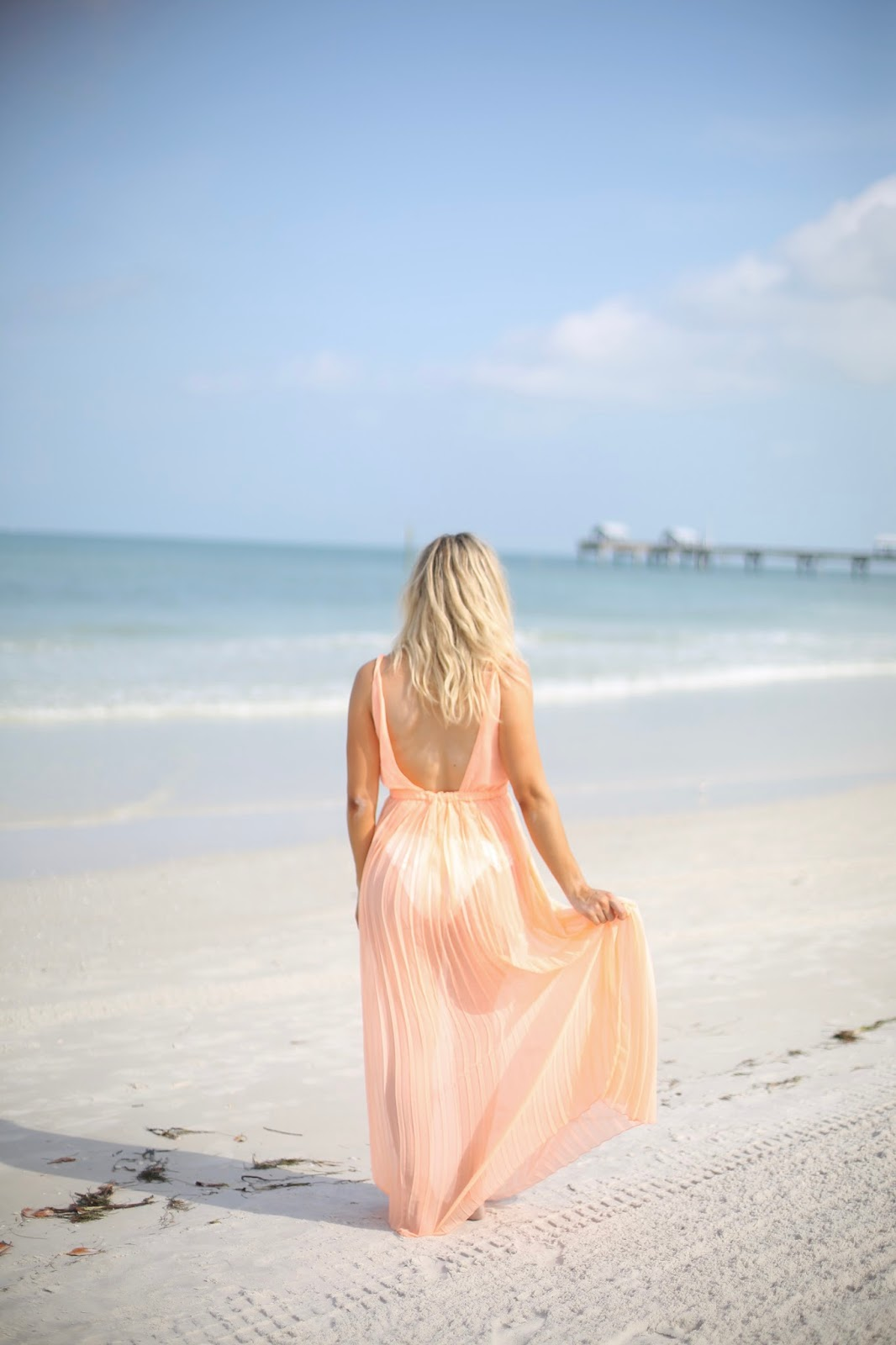 asos orange beach maxi dress