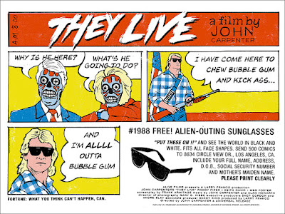 They Live Movie Poster Screen Print by Alan Hynes x Mondo