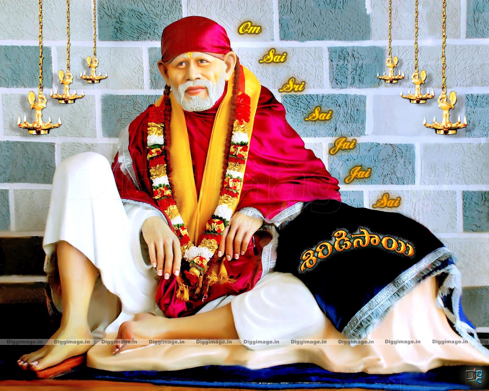 Exclusive Full Screen Sai Baba Om Sai Sri Sai Jai Jai Sai Wallpaper Free Download In Hd D I G G I M A G E