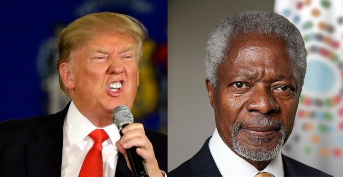 Kofi Annan disapproves Donald Trump: How can America someone like that as president?
