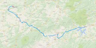 Trajeto de Itatiaia/RJ a Santa Rita do Sapucaí/MG.