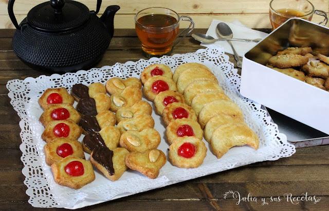 Pastas de té de almendra. Julia y sus recetas