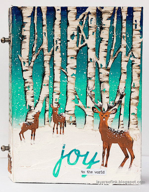 Layers of ink - Birch Forest December Daily Tutorial by Anna-Karin Evaldsson. With Sizzix dies by Tim Holtz.