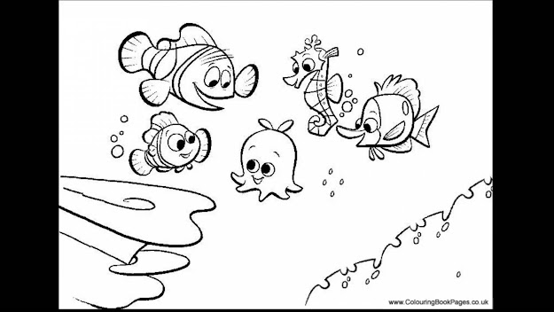 Superb Finding Nemo Coloring Pages Games With Finding Nemo Coloring Pages  And Finding Nemo Bruce Coloring