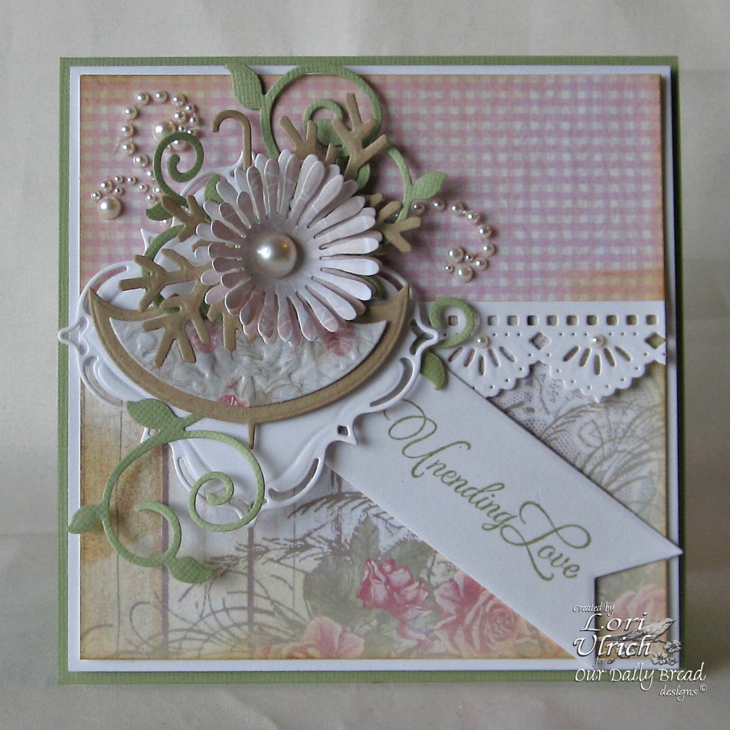 Stamps - Our Daily Bread Designs How Sweet the Sound, ODBD Custom Dies: Lacey Layered Squares, Fancy Foliage, Pennants, Asters and Leaves, Beautiful Borders, ODBD Shabby Rose Paper Collection