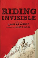 book cover of Riding Invisible by Sandra Alonzo published by