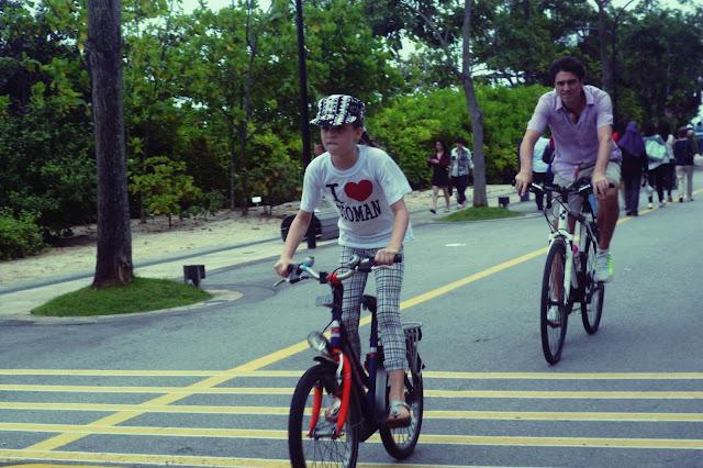 biker girl in Singapore