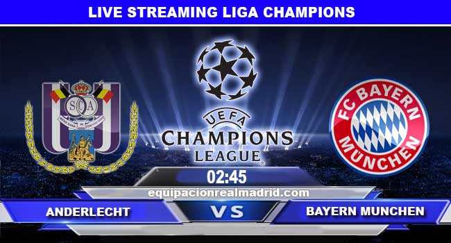 live streaming anderlecht vs bayern munchen 23 november 2017