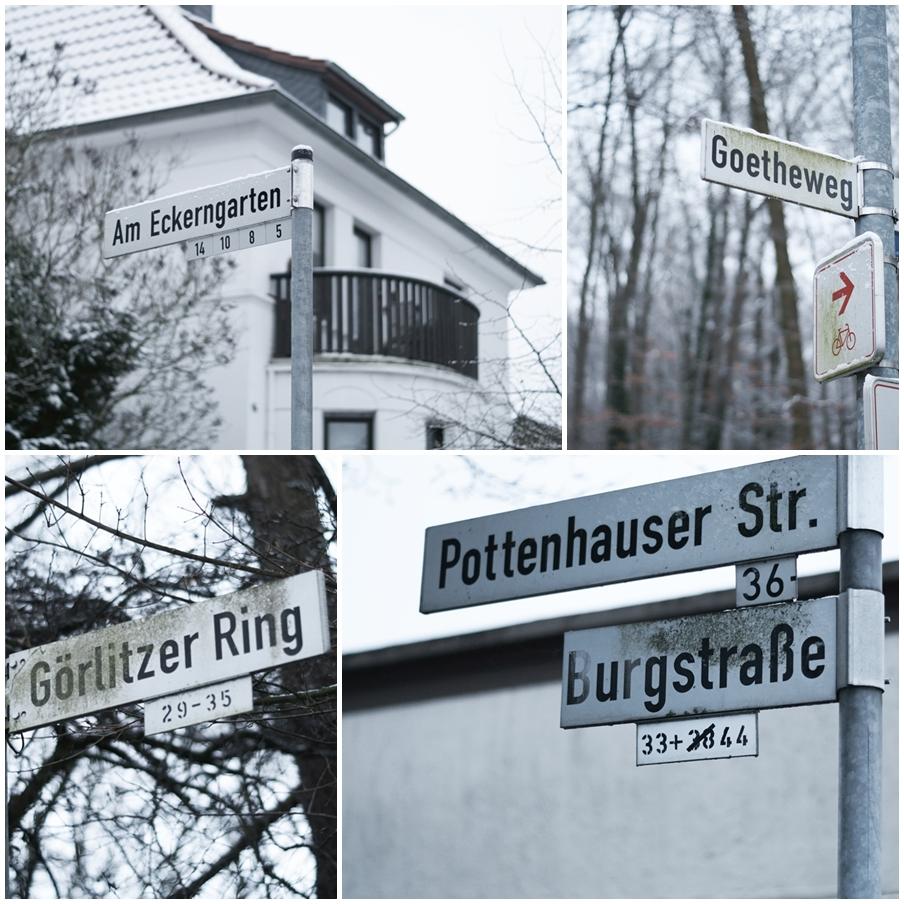 Blog + Fotografie by it's me! - Draussen - Magische Mottos im Januar, Straßenschilder