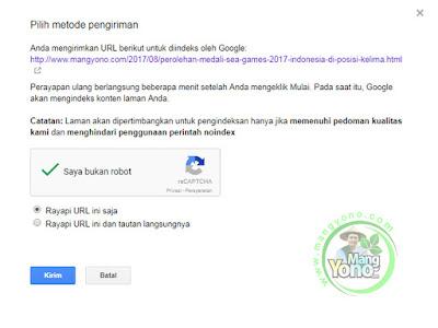 4-Cara Submit URL Artikel Blog Ke Fetch as Google