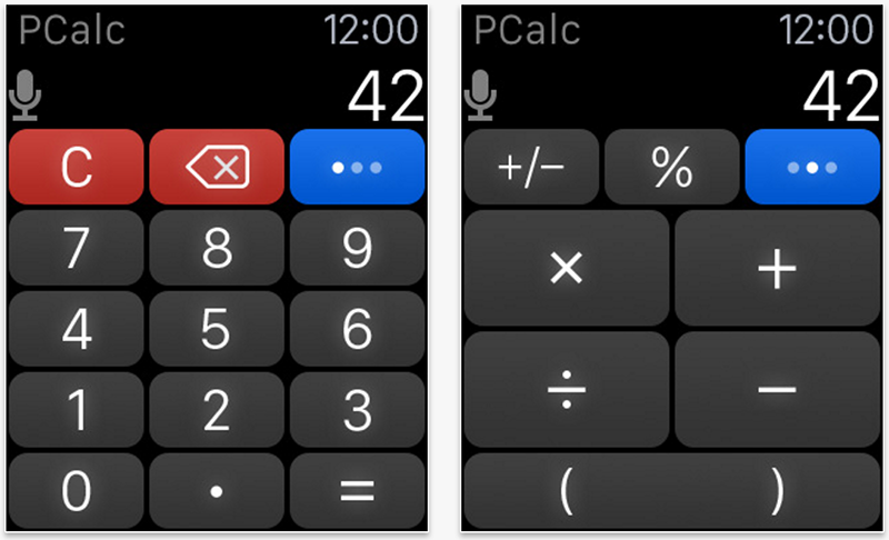 Apple Watch Calculator app