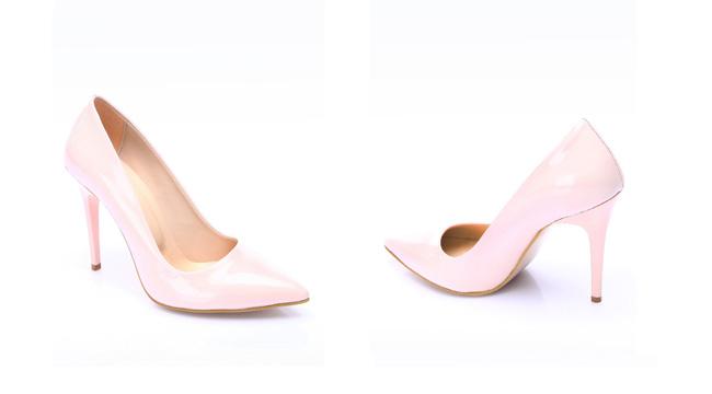 Pantofi Stiletto ieftini roz cu toc inalt de zi si birou online