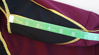 TNG season 1 admiral jacket - shoulder seam