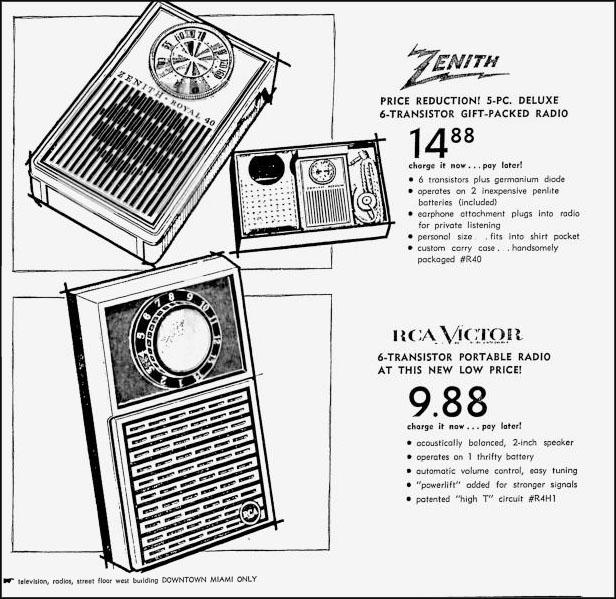 miami archives tracing the rich history of miami miami beach and Miami Florida Police Department Cars burdine s newspaper ad for televisions and transistor radios miami news june 29 1964