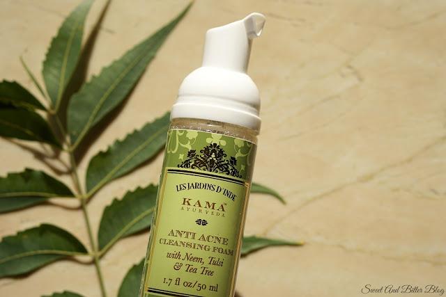 Kama Ayurveda Anti-Acne Cleansing Foam with Neem, Tulsi & Tea Tree Pump Packaging