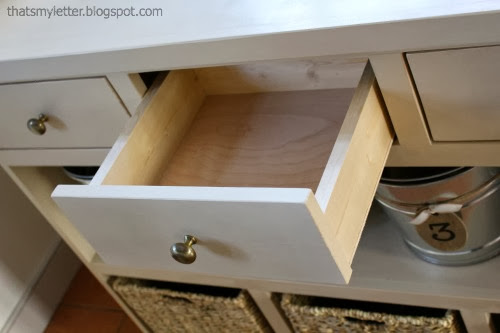 diy mudroom console drawers