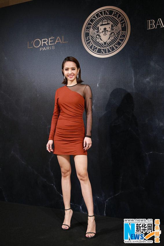Jolin Tsai in Paris for fashion week