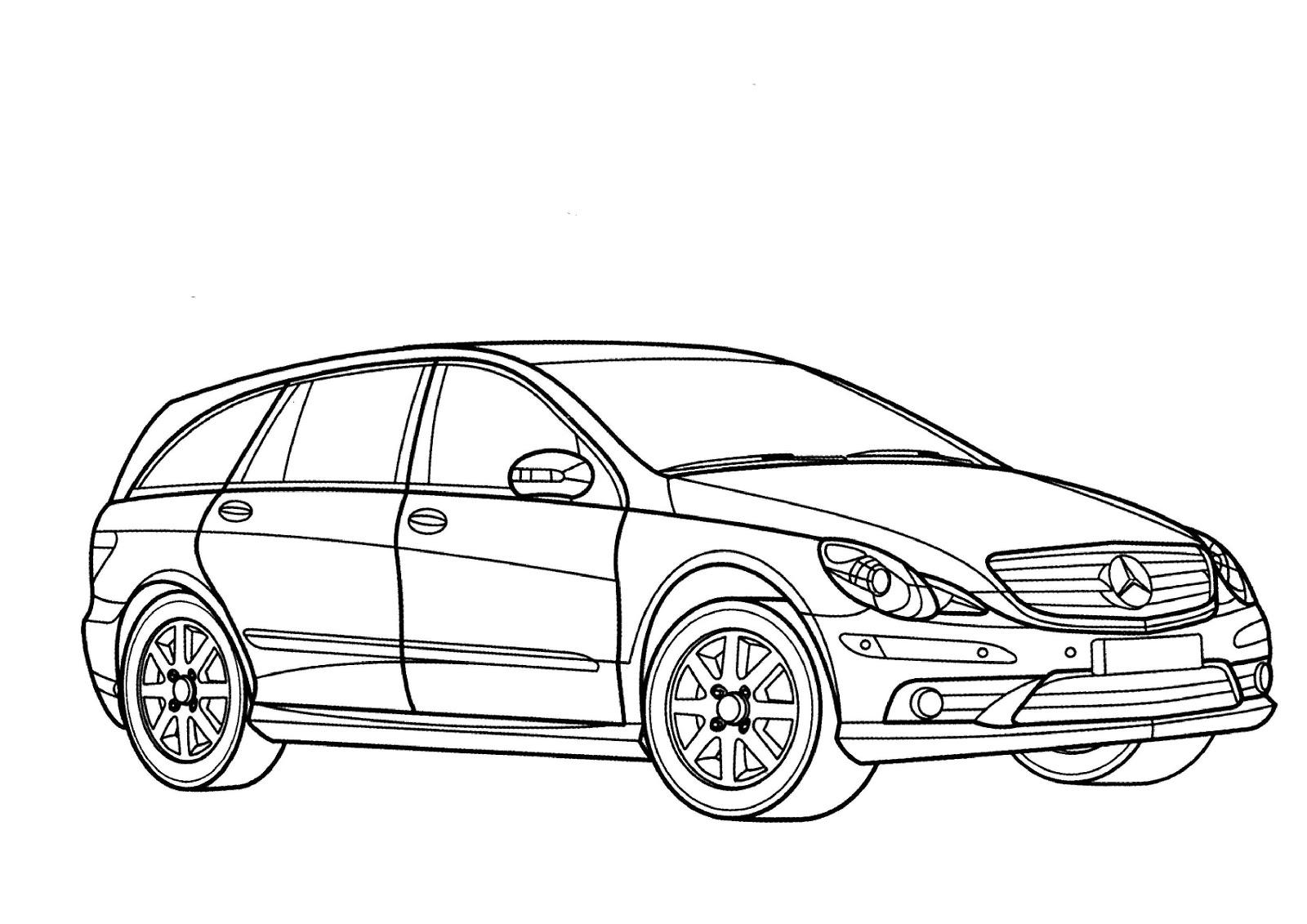 Dibujos Para Imprimir De Coches Mercedes