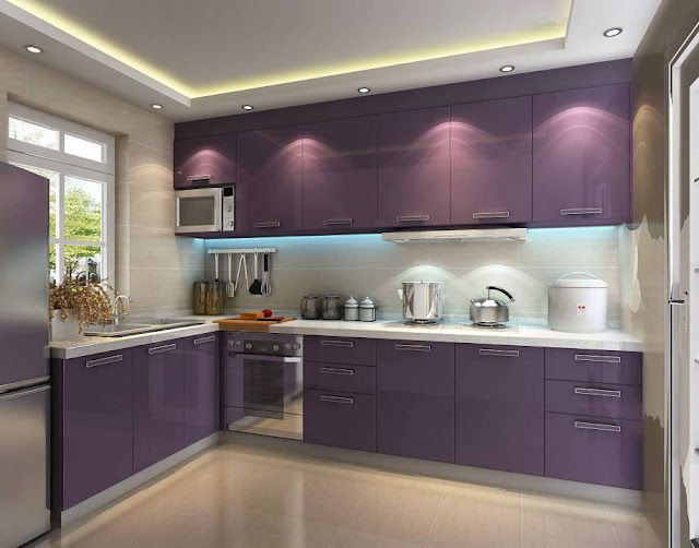 Divine Purple kitchen accent color In Contemporary Style 2016