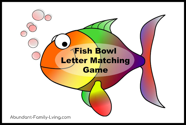 Fish Bowl Letter Matching Game