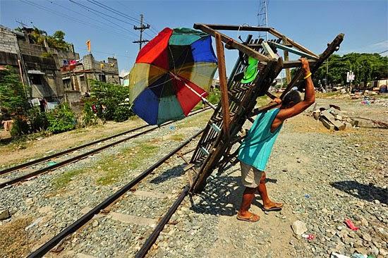 Carrinhos sobre trilhos nas Filipinas