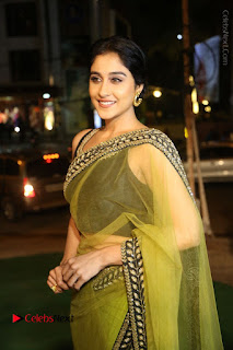 Actress Regina Stills in Green Saree at Vivaha Bhojanambu Restaurant Launch  0056.JPG