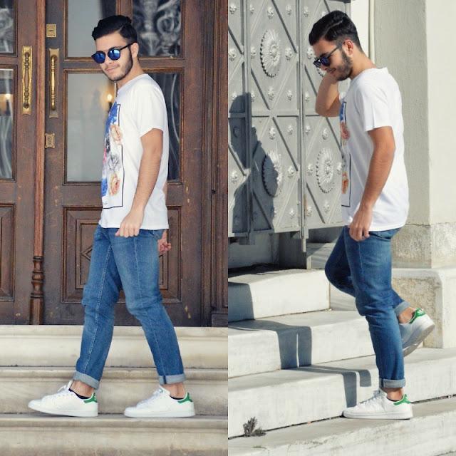 Adidas Stan Smith com calça barra dobrada, Tendências masculinas