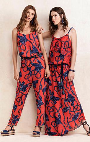 Maria.Valentina verão 2017 macacão e vestido longo estampados