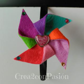 Diademas-corona-y-complementos-para-el-pelo-Crea2-con-Pasión-corona-fieltro-molinillo-colorido-para-diadema