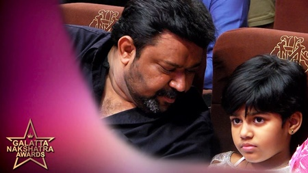 Gopinath with his Daughter – cute moments | Galatta Nakshatra Awards Exclusive