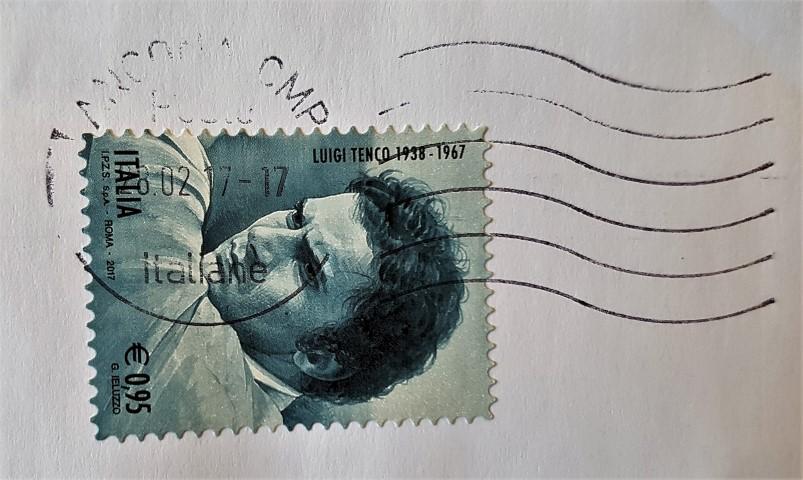 francobollo Luigi Tenco 1938 - 1967