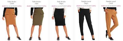 faldas y pantalones mujer