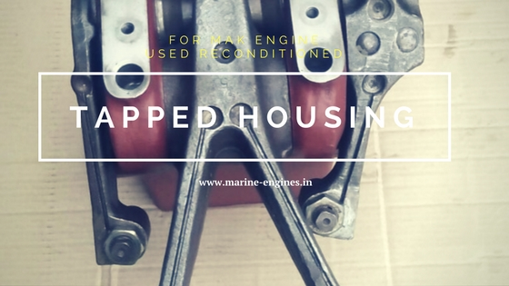 Tapped Housing, Marine engine Spare Parts, Shipspares, used, reconditioned, Ship parts, main engine, MAK engine spare parts for sale, reusable, for sale, stock, supplier, sell