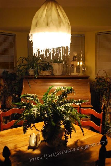 http://joysjotsshots.blogspot.com/2012/02/muslin-chandelier-shade.html