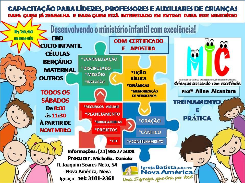 Amado TIA ALINE ALCANTARA - CULTO INFANTIL : CURSO DE CAPACITAÇÃO PARA  OB91